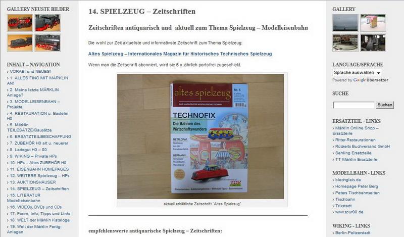 SPIELZEUG – Zeitschriften