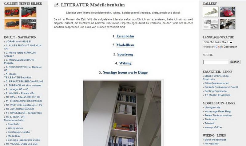 LITERATUR Modelleisenbahn