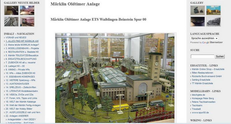 Märklin Oldtimer Anlage - 01.10.2013