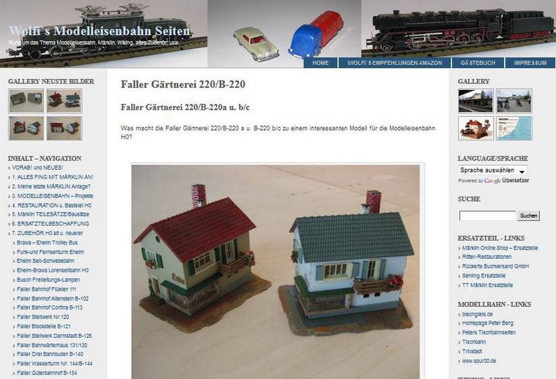 Faller Gärtnerei 220/B-220 - 28.11.2013