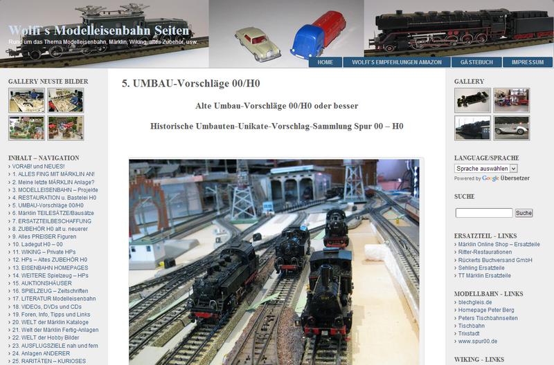 Historische Umbauten-Unikate-Vorschlag-Sammlung Spur 00/H0 - 20.12.2013