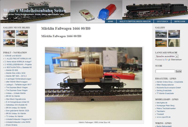 Märklin Faßwagen 1666 00/H0 - 08.01.2014