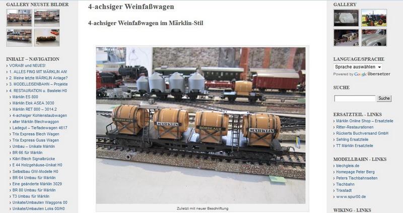 4-achsiger Weinfaßwagen im Märklin-Stil - 20.01.2014