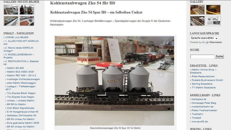 Kohlenstaubwagen Zko 54 Spur H0 - 18.02.2014