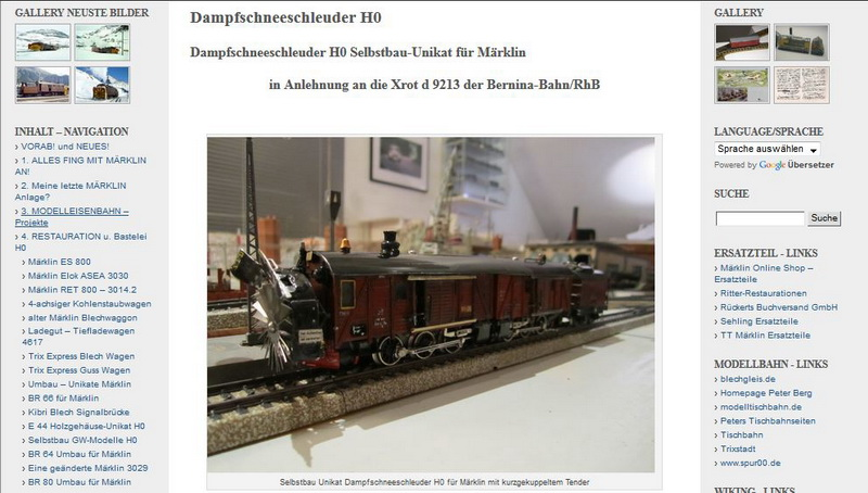 Dampfschneeschleuder H0 Selbstbau-Unikat - 21.02.2014