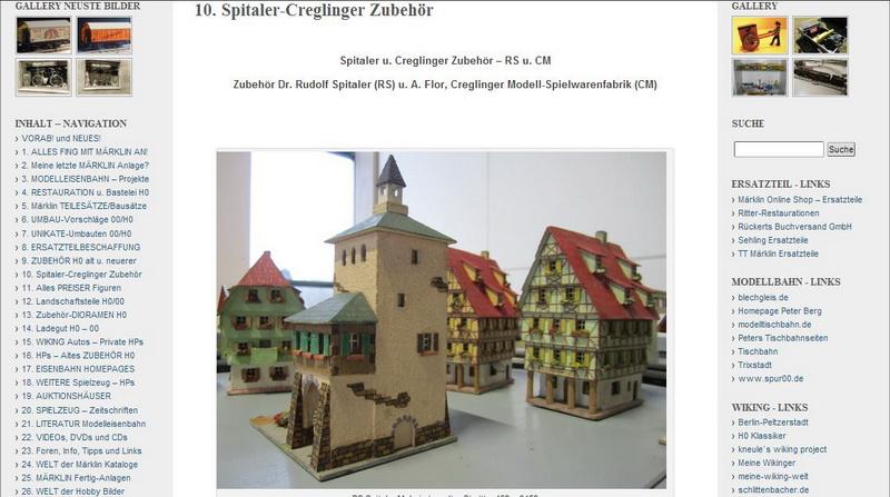 Spitaler-Creglinger Zubehör