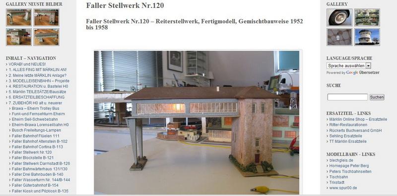 Faller Stellwerk Nr.120 - Reiterstellwerk, Fertigmodell 1952 - 01.11.2013