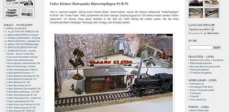 """Faller  """"Hintertupfingen"""" 91/B-91 - 14.12.2013"""