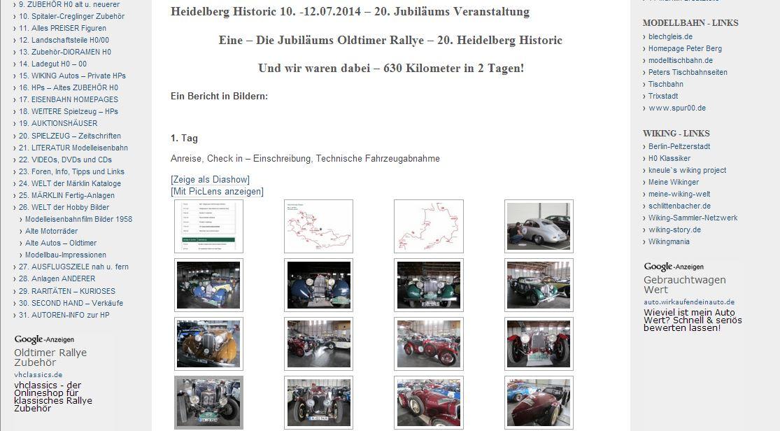 Heidelberg Historic 10. -12.07.2014 – 20. Jubiläums Veranstaltung