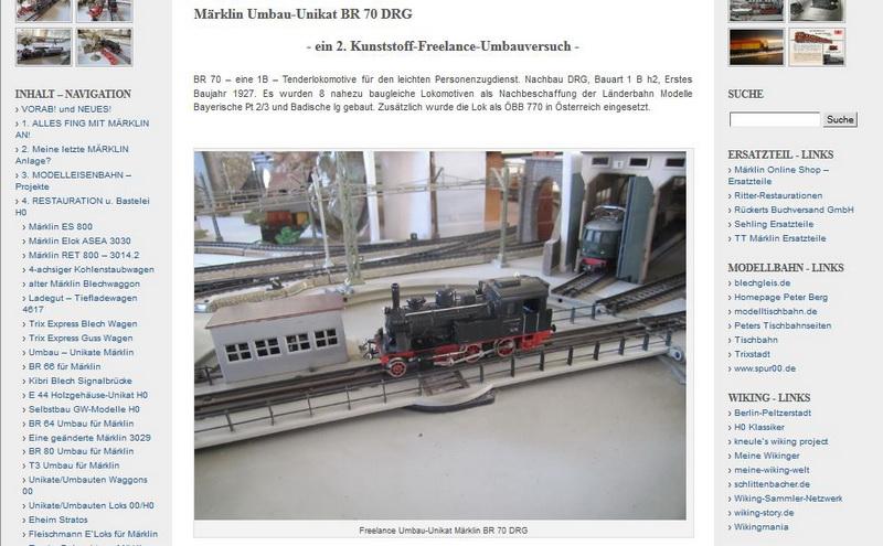 Märklin Umbau-Unikat BR 70 DRG - 28.07.2014