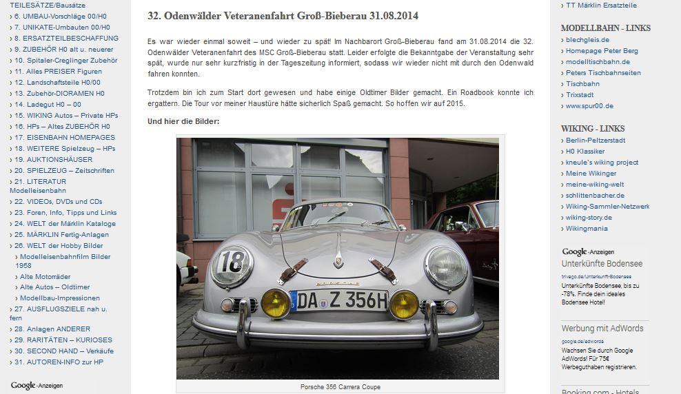 32. Odenwälder Veteranenfahrt MSC Groß-Bieberau vom 31.08.2014