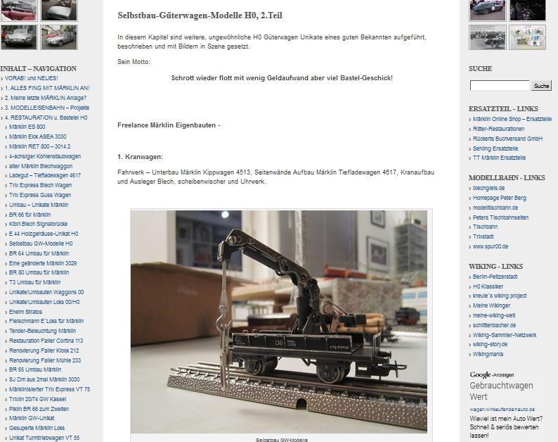 Selbstbau-Güterwagen-Modelle H0, 2.Teil - 02.09.2014