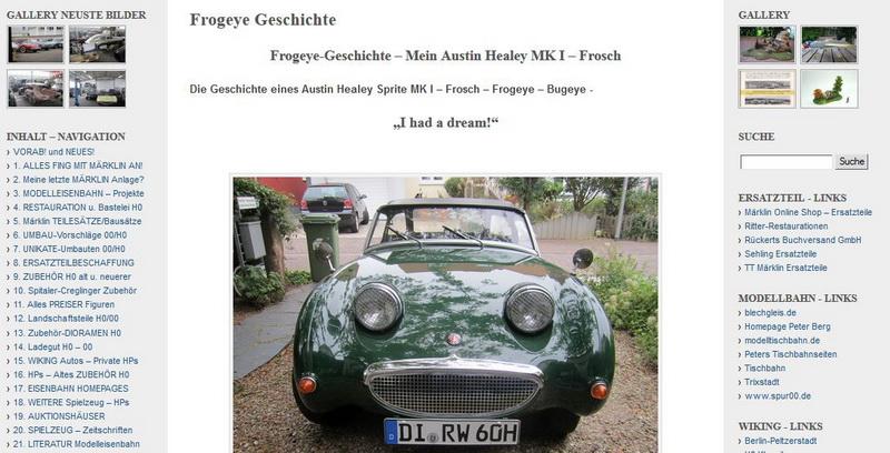 Frogeye-Geschichte – Mein Austin Healey MK I – Frosch