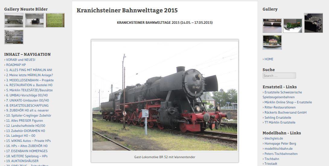 KRANICHSTEINER BAHNWELTTAGE 2015 (14.05. – 17.05.2015)