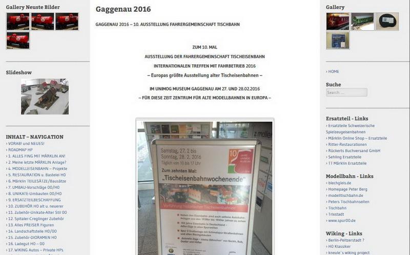 Gaggenau 2016 - Ausstellung der Fahrergemeinschaft Tischeisenbahn